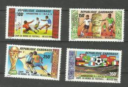 Gabon Poste Aérienne N°279 à 282 Neufs** Cote 7.75 Euros - Gabón (1960-...)