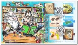 Engeland 2009, Envelopes, Charles Darwin - Célébrités