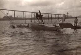 Dunkerque WWI Aviation Militaire Biplan Hydravion FBA Schreck D13 Ancienne Photo 1916 - Guerra, Militares