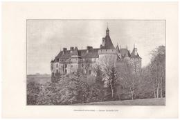 1901 - Phototypie - Chaumont-sur-Loire (Loir-et-Cher) - L'ensemble Du Château - FRANCO DE PORT - Old Paper