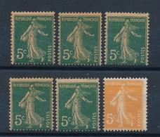 FRANCE - LOT DE 6 TIMBRES NEUFS**/* SANS OU AVEC CHARNIERE - COTE YT : 22€40 - 1907/22 - 1906-38 Sower - Cameo