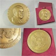 ~ MEDAILLE EN BRONZE RICHARD NIXON 1969 - Président Etats Unis Amerique Menconi - Bronzes