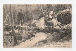 - CPA SENTIER DU SAUT DU LOUP (06) - La Passerelle Des Touristes 1905 (avec Personnages) - Photo Giletta 1336 - - France