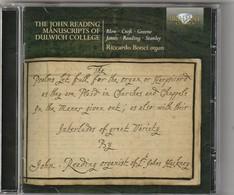 Cd   The John Reading Manuscrits Of Dulwich College  RICCARDO BONCI   Etat: TTB Port 110 GR - Classique