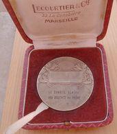 DB-076 Médaille Bronze Signée F.Fraisse Demev Offerte Par Le Conseil Génral Des B. Du Rhône AVIRON - Remo