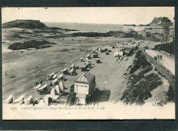 CPA - SAINT MALO - La Plage De Bon Secours à Marée Basse, Animé - Saint Malo