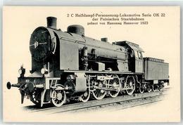 52950575 - 2C Heissdampf-Personenzug-Lokomotive Poln. Staatsbahn Hanomag - Trains