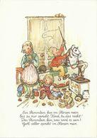 AK Ruthild Busch-Schumann - Kinder Mit Schaukelpferd Teddy Puppenherd #2516 - Children's Drawings