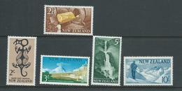 New Zealand 1960 Definitives 2/- To 10/- Glacier MLH - New Zealand