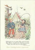 AK Ruthild Busch-Schumann - Kinder Beim Seilspringen + Spruch Matthias Claudius #2515 - Kinder-Zeichnungen