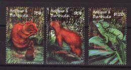 Antigua & Barbuda 2000, Animals, Minr 3295-3297, MNH. - Antigua And Barbuda (1981-...)