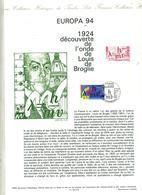 Document Philatelique Officiel Fdc 1994 Strasbourg Europa Broglie - FDC