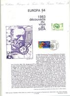 Document Philatelique Officiel Fdc 1994 Strasbourg Europa Sida - FDC