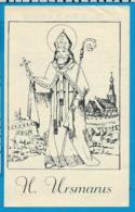 Holycard   Litanie    St. Usmarus    Baasrode   1841 - Santini