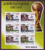 Korea 1998 World Cup Football / Soccer France '98 IMPERF 2v + S/S + MS (Bloc) MNH / ** SPORTS - Soccer