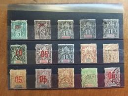 EX COLONIE FRANCESI - CINA E ALTRI - 15 Francobolli Differenti Nuovi */timbrati (1 Valore Manca Dente) + Spese Postali - Cina (1894-1922)