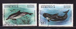 Dominica 1979, Fish, Dolfin, Minr 631 And 634, Vfu. Cv 3,60 Euro - Dominica (1978-...)