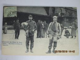 CPA 62 COURRIERES La Catastrophe Des Mines De Courrières -sauveteur En Tenue De Descente -Billy Montigny Puit N:2 1906 - France