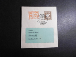 Schweiz Mi. GA Streifband S 48 + Zufrankatur St. Gallen Nach Deutschland - Suisse