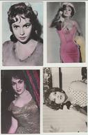 Gina Lollobrigida 4 Postcards From The 60's - Movie Star, Italian Actress, Film Memorabilia, European Cinema - Schauspieler