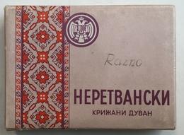 EMPTY  TOBACCO  BOX    CIGARETTES  NERETVANSKI KRIZANI DUHAN  DRZAVNI MONOPOL KRALJEVINE JUGOSLAVIJE - Schnupftabakdosen (leer)