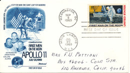 USA FDC Apollo 11 First Man On The Moon Moon Landing 20-7-1969 With Nice Cachet - FDC & Commemoratives