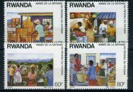 RWANDA ( POSTE ) Y&T  N°  1255/1258  TIMBRES  NEUFS  SANS  TRACE  DE  CHARNIERE . - 1980-89: Neufs