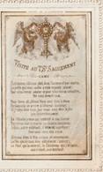 IMAGES PIEUSES .Visite Au TSt Sacrement   -  Image à Deux Volets  Dentelle Canivet - Religion & Esotérisme