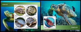 SIERRA LEONE 2019 - Turtles. M/S + S/S Official Issue. - Schildpadden