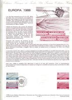 Document Philatelique Officiel Fdc 1988 Paris Europa - FDC