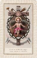 IMAGES PIEUSES . Il Est Né Le Roi Des Anges   Superbe Image     Dentelle Canivet   Format 11.8x 7.8 - Religión & Esoterismo
