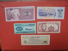 CHINE LOT 5 BILLETS DIFFERENTS NEUFS Et/ou CIRCULER - Mezclas - Billetes