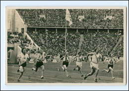 XX002143/ Olympiade 1936 Berlin Helen Stephens 100m-Endlauf Foto AK - Olympische Spiele