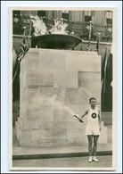 XX002149/ Olympiade 1936 Berlin Fackelläufer Foto AK - Olympische Spiele