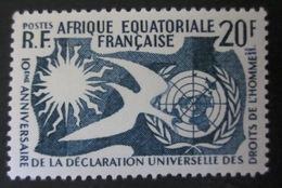 AEF - 1958 - Droits De L'Homme - YT 245 ** - Luxe - A.E.F. (1936-1958)