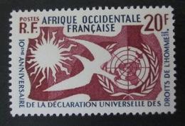 AOF - 1958 - Droits De L'Homme - YT 74 ** - Luxe - A.O.F. (1934-1959)