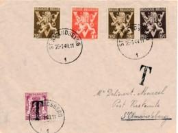 Brief St Amandsberg 25-1-49 - Post Restante - 711 Als Strafport - Taxes