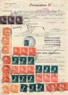 Procuration De 1945 à 1959 - Bruxelles 4 - Variété Couleurs De Poortman & Col Ouvert - 1936-1951 Poortman