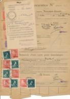 Procuration Ixelles 1946 à 1959 - Bruxelles 4 - Variété Couleurs De Poortman & Col Ouvert / Papier De Guerre - 1936-1951 Poortman