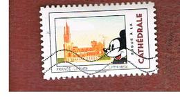 FRANCIA (FRANCE) - YV. A1593  - 2018 MICKEY MOUSE IN FRANCE: CATHEDRAL   - USED - Oblitérés