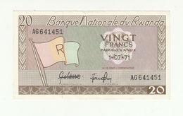 Rwanda P.6 20 Francs 1971 Au - Rwanda