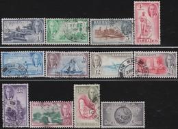 Barbados      .     SG    .     271/282           .     O    .   Cancelled   .   /    .     Gebruikt - Barbados (...-1966)