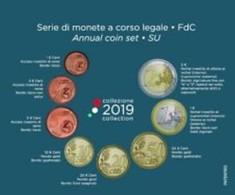 Italie  2019   BU Met De 1ct Tot 2 Euro - Coffret Avec Les 8 Pièces De 1ct à 2 Euro !! - Italie