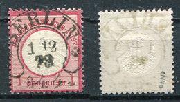 Deutsches Reich Michel-Nr. 19 Hufeisen Vollstempel - Geprüft - Germany
