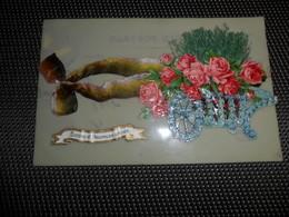 Carte Celluloïd ( 87 )  En Celluloïde  Cellulo  + Collage ( Ajoutis ) - Cartes Postales