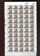 Belgie Andre Buzin Birds 2918 Volledig Vel Drukdatum 6/4/2000 Plaatnummer 1 - 1985-.. Birds (Buzin)
