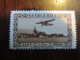 SARRE POSTE AERIENNE N° 4   (cote 150€)  NEUF **  COLLE PARFAITE TRES FRAIS - Unused Stamps