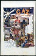 """Cpa   Publicitaire Illustrée  Pour Le Gaz  """" Diverses Utilisations """" - Advertising"""