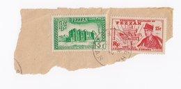 Territoire Du FEZZAN Sur Fragments N° 50 Et 46 - Fezzan (1943-1951)