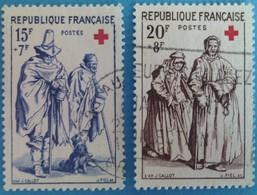 France 1957 : Au Profit De La Croix Rouge N° 1140 à 1141 Oblitéré - Gebruikt